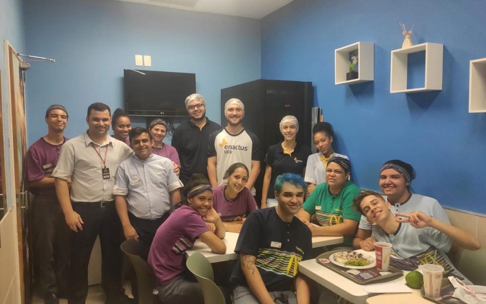 Após o desenvolvimento da ação em Sarandi e a conquista do primeiro lugar na competição, o McDonald's irá avaliar como incluir as práticas do Motirô dentro dos restaurantes da marca - Divulgação