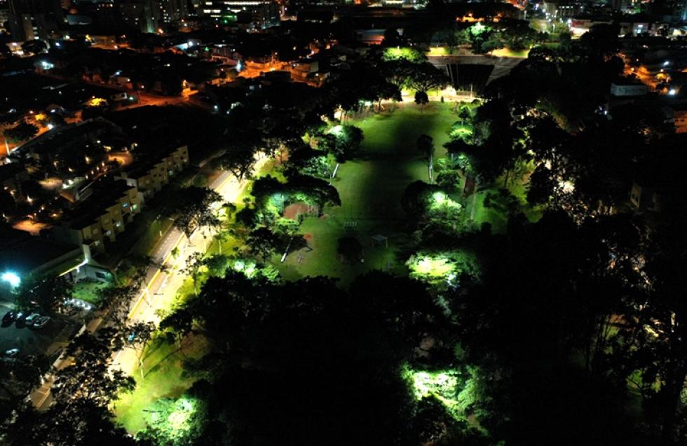 Iluminação de LED no Zerão em Londrina - Foto: Divulgação