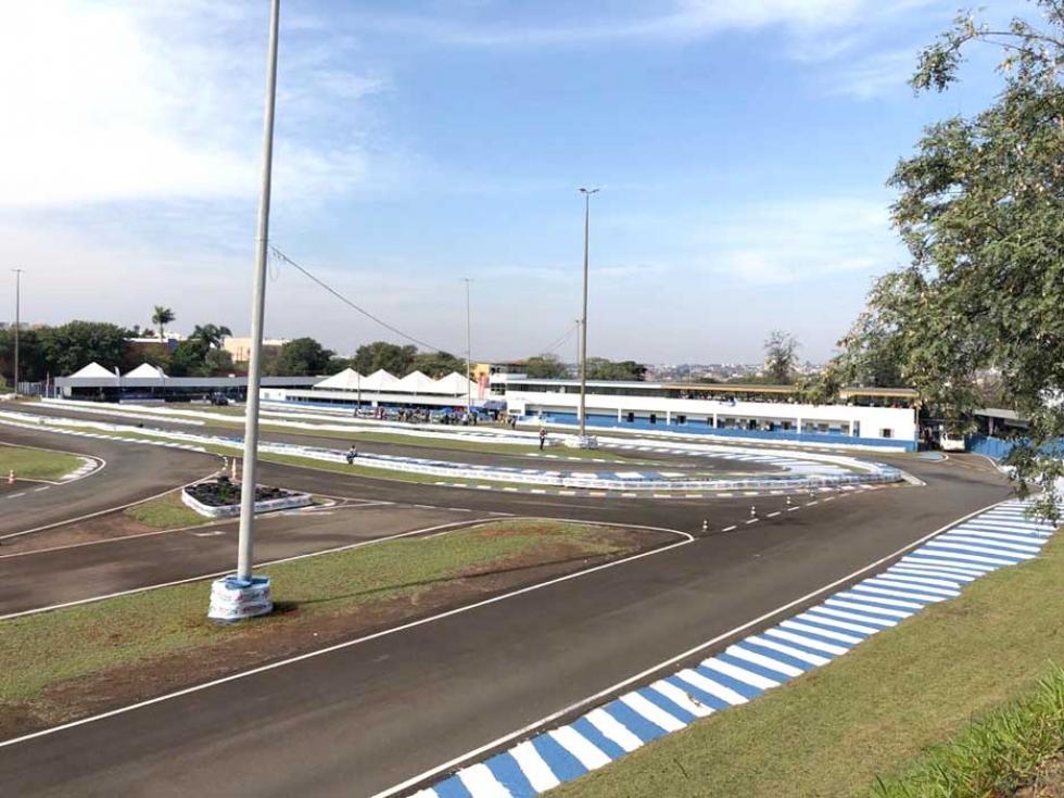 Kartódromo Luigi Borghesi já está praticamente pronto para a competição (Divulgação)