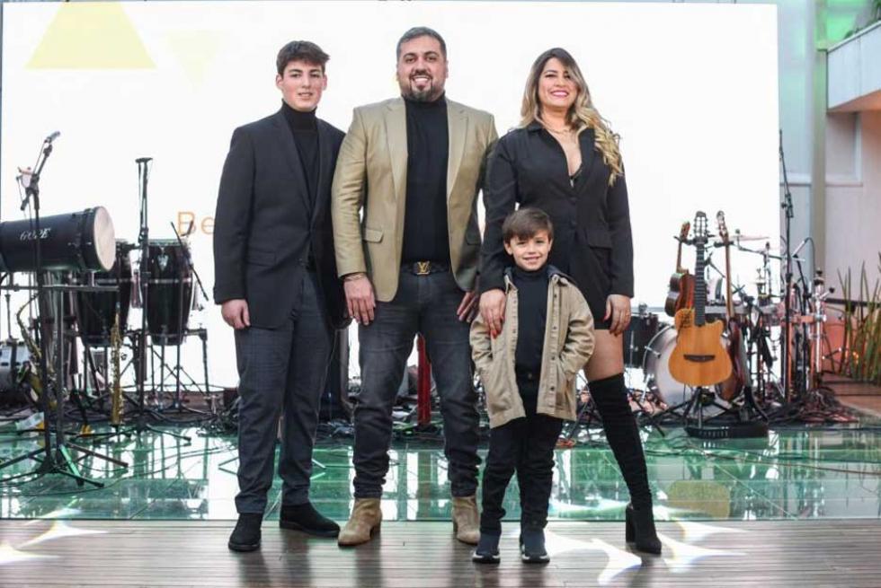 Empresário Diego Hidalgo com a Família - Foto Lucas Nino - Divulgação