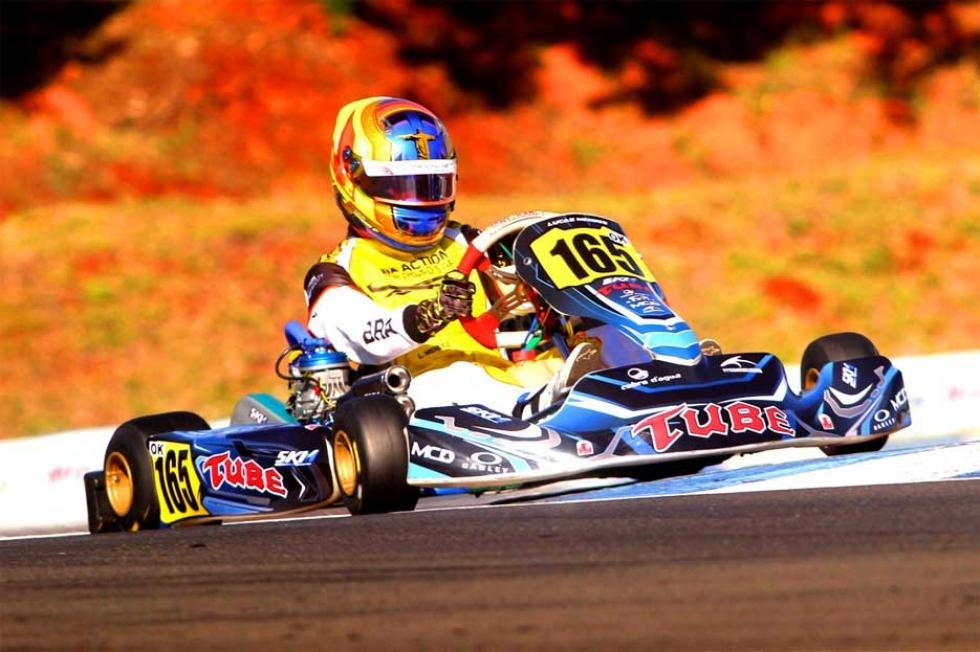 Mato-grossense teve que aprender a pista de Londrina e a pilotagem do motor OK em pouco treinos - Foto: PlanetKart Images/Divulgação