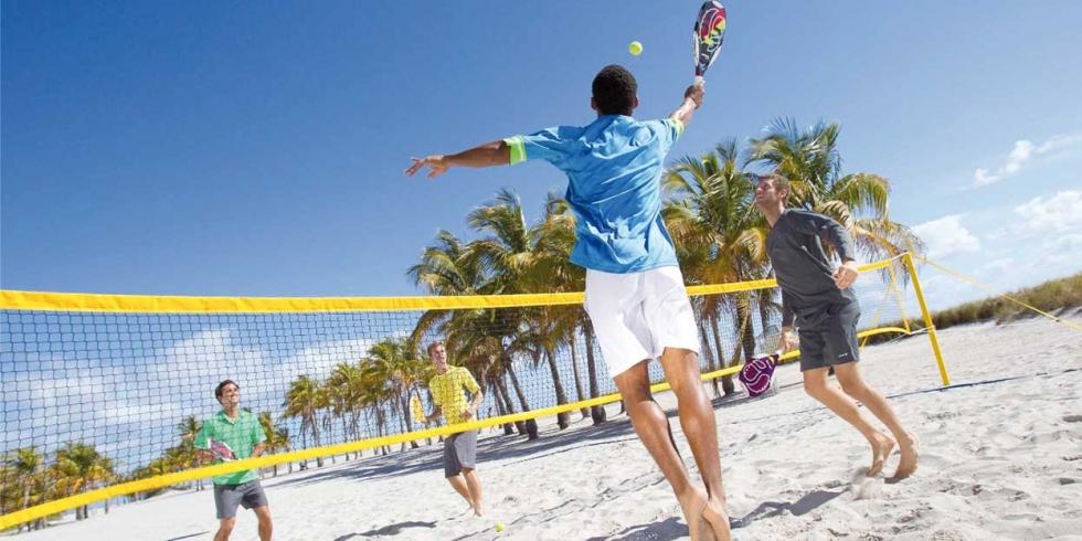 O Sertão Beach Sports oferece o Beach Tennis para Sertanópolis e região. Crédito: Divulgação