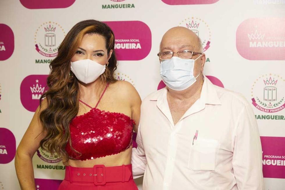 Karinah e Elias Riche (Presidente da Escola de Samba Mangueira)_FtGutoCosta