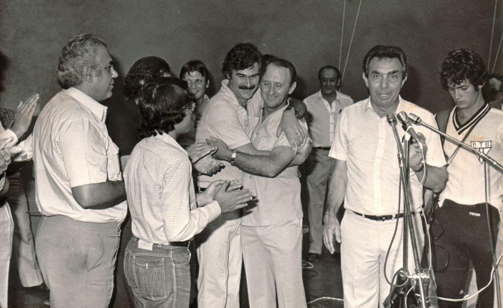 """Foto 2: """"Dr. Chiquito"""" acompanhado de seu vice, Daniel Pelisson / Crédito: Acervo do MHAI - Museu Histórico e de Artes de Ibiporã"""