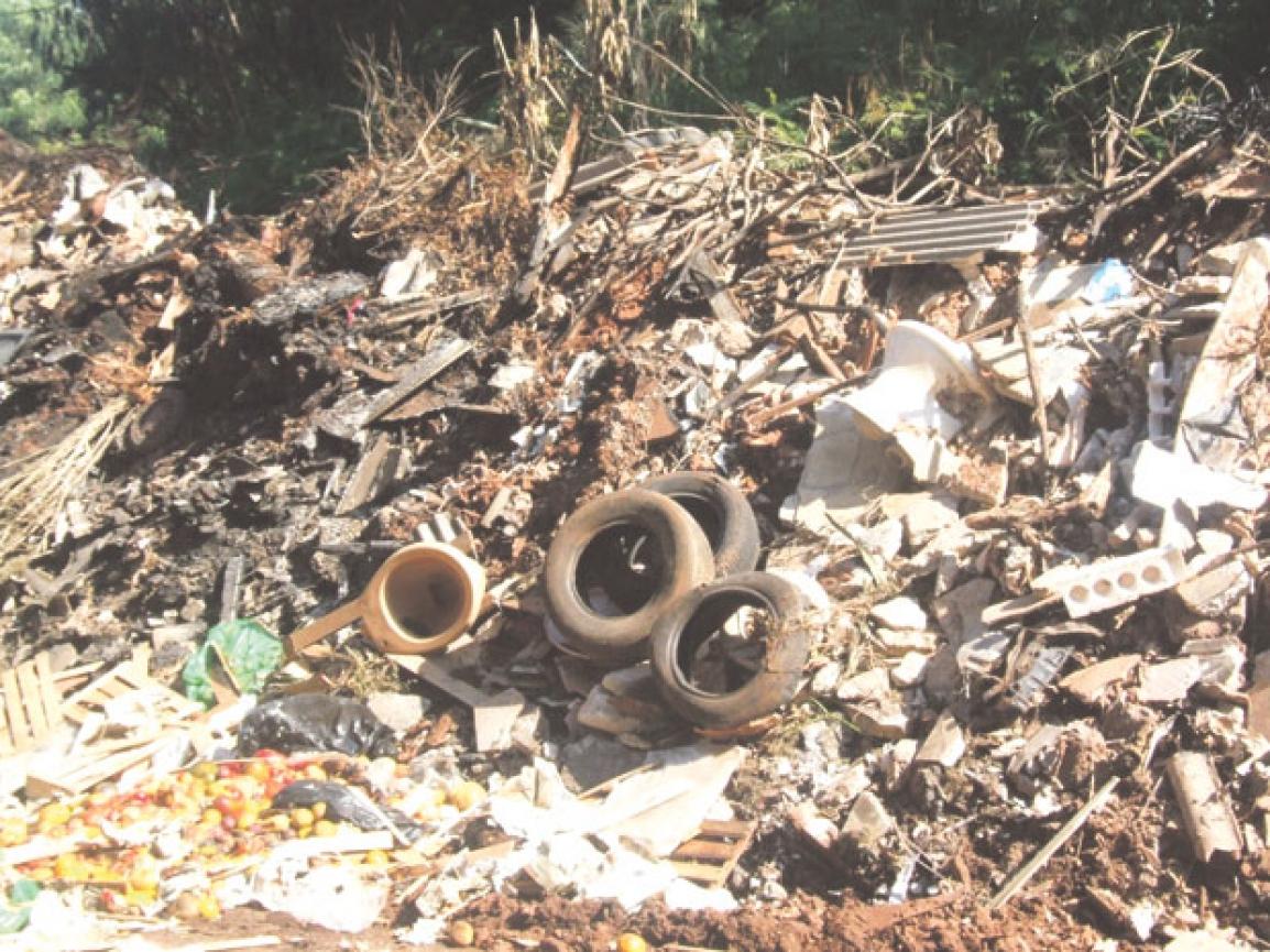 Lixo favorece a proliferação do mosquito da dengue. Foto: Valdemir Camargo