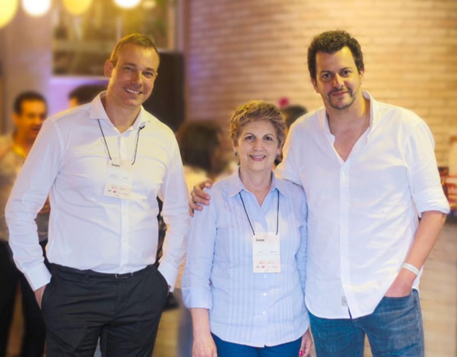 Luís Dente - Unilever, Cleide Pennacchi e Beto Madalosso
