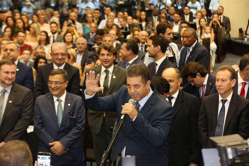 Cobra Repórter – Devanil Reginaldo da Silva – (PSD) – nascido em Apucarana (PR), em 10 de agosto de 1974, é radialista e elegeu-se para o 2º mandato com 46.983 votos - Foto: Nani Góis/Alep