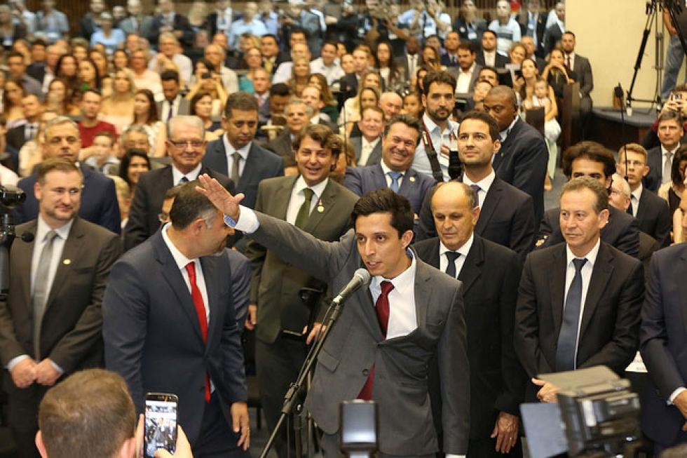 Boca Aberta Júnior – Matheus Viniccius Ribeiro Petriv (PRTB) – nascido em Londrina, em 21 de novembro de 1995, elegeu-se para o 1º mandato com 39.495 votos - Foto: Nani Góis/Alep