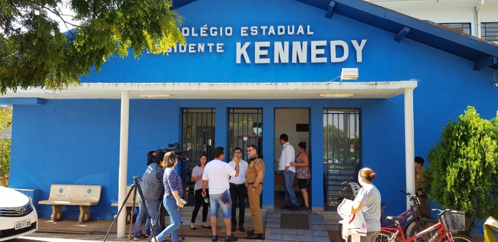 Colégio Kennedy de Rolândia onde houve ameaça com um desenho em uma carteira - Foto: Jesu Campos