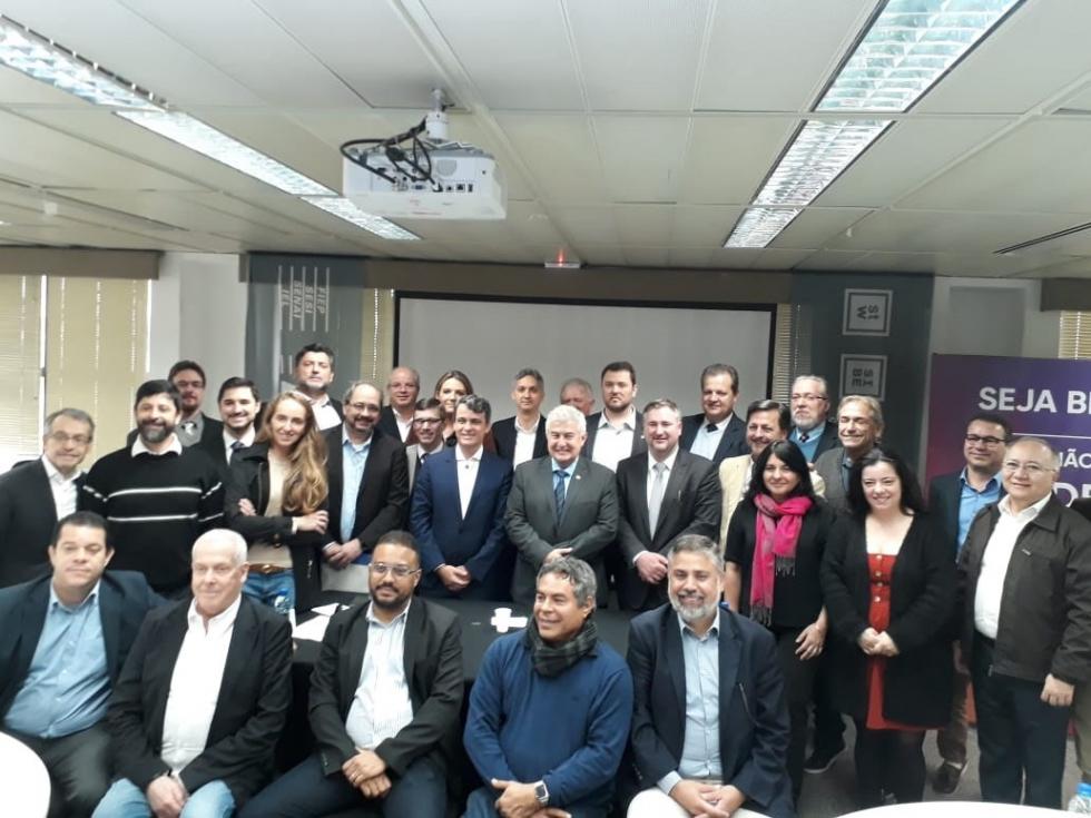Reunião do Conselho de Administração da Assespro realizada em Curitiba recebeu a visita do ministro Marcos Pontes - Foto: Divulgação