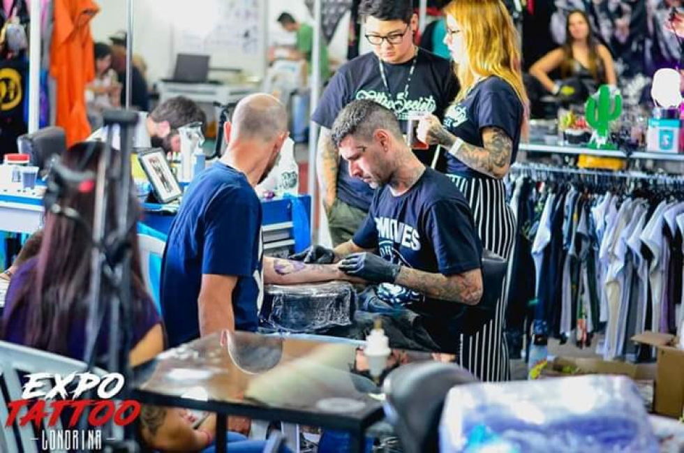 Fotos da Expo Tattoo - Lírica Aragão, Guilherme Paulino e Rodrigo Greco